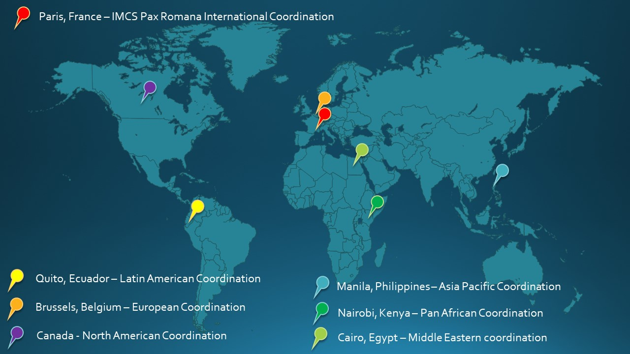 IMCS Global coordination Map